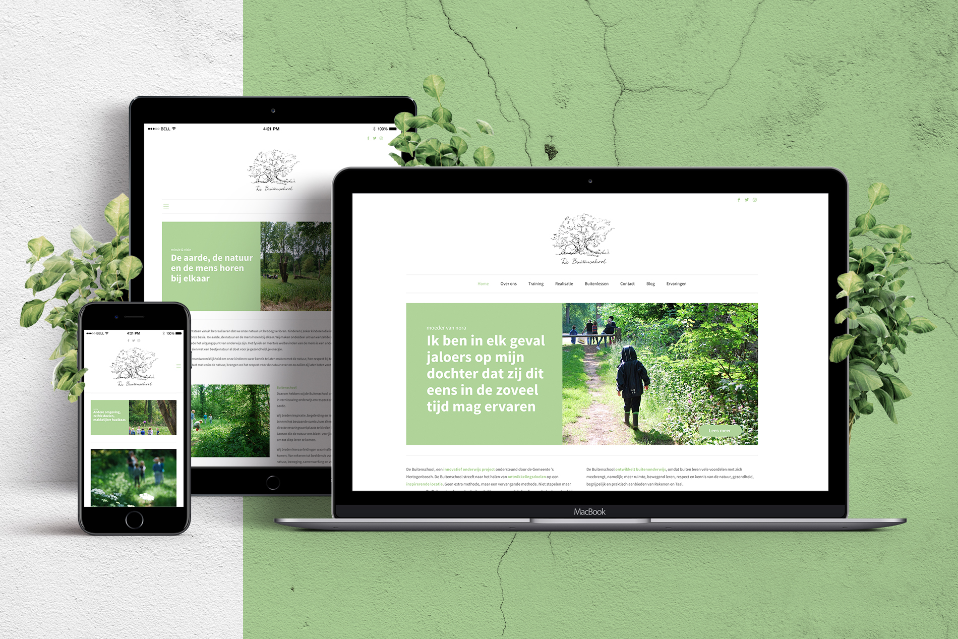 Website Stichting de Buitenschool